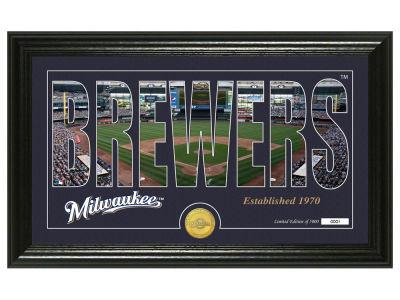 Milwaukee Brewers Highland Mint Silhouette Panoramic Bronze Coin Photo Mint