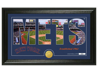 New York Mets Highland Mint Silhouette Panoramic Bronze Coin Photo Mint