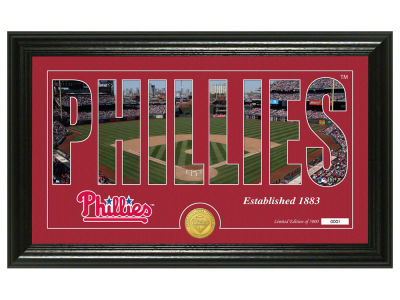 Philadelphia Phillies Highland Mint Silhouette Panoramic Bronze Coin Photo Mint