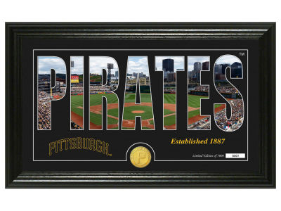Pittsburgh Pirates Highland Mint Silhouette Panoramic Bronze Coin Photo Mint