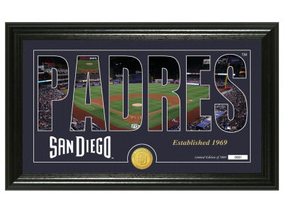 San Diego Padres Highland Mint Silhouette Panoramic Bronze Coin Photo Mint