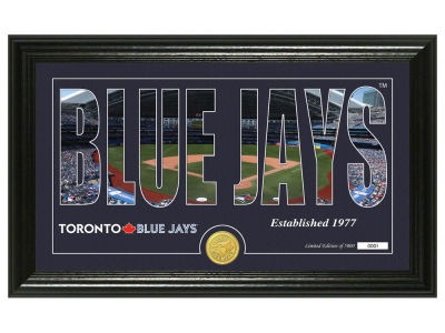 Toronto Blue Jays Highland Mint Silhouette Panoramic Bronze Coin Photo Mint
