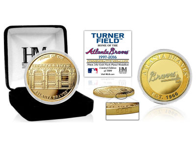 Atlanta Braves Highland Mint Stadium Gold Mint Coin