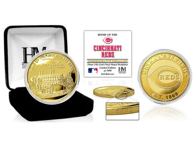 Cincinnati Reds Highland Mint Stadium Gold Mint Coin