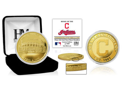 Cleveland Indians Highland Mint Stadium Gold Mint Coin