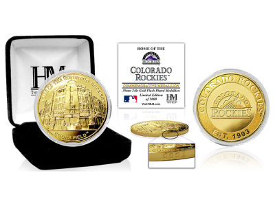 Colorado Rockies Highland Mint Stadium Gold Mint Coin