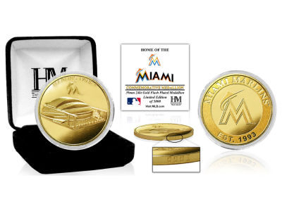 Miami Marlins Highland Mint Stadium Gold Mint Coin