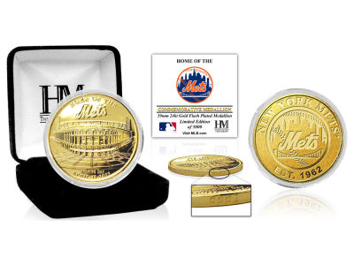 New York Mets Highland Mint Stadium Gold Mint Coin