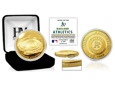 Oakland Athletics Highland Mint Stadium Gold Mint Coin