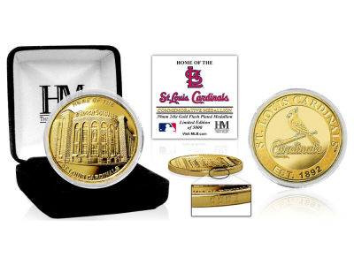 St. Louis Cardinals Highland Mint Stadium Gold Mint Coin