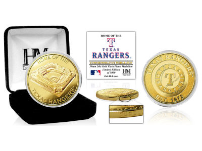 Texas Rangers Highland Mint Stadium Gold Mint Coin