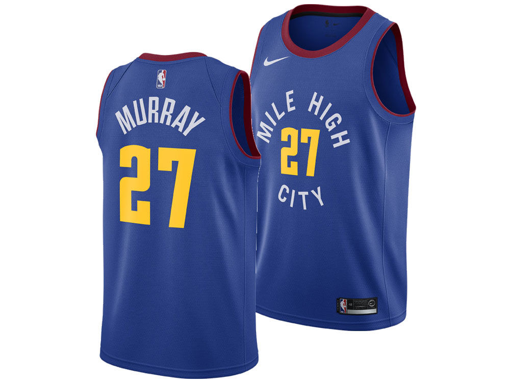 badceaec1 Denver Nuggets Jamal Murray Nike NBA Men s Statement Swingman Jersey. Denver  Nuggets Jamal Murray ...