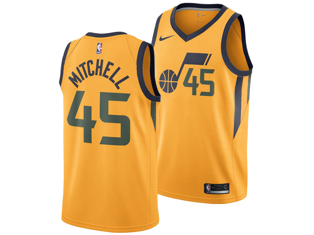 Utah Jazz Donovan Mitchell Nike NBA Men s Statement Swingman Jersey ... c52a35c476d3