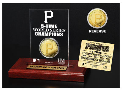 Pittsburgh Pirates Highland Mint World Series Champions Gold Coin Etched Acrylic