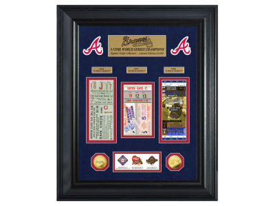 Atlanta Braves Highland Mint World Series Deluxe Gold Coin Ticket Collection