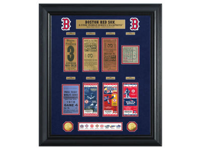 Boston Red Sox Highland Mint World Series Deluxe Gold Coin Ticket Collection