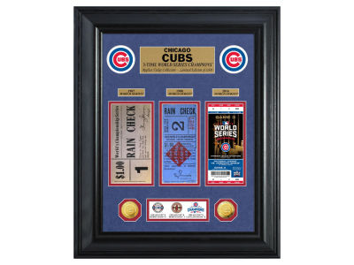 Chicago Cubs Highland Mint World Series Deluxe Gold Coin Ticket Collection