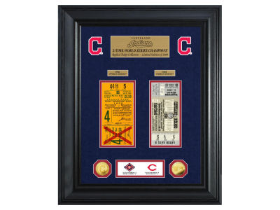 Cleveland Indians Highland Mint World Series Deluxe Gold Coin Ticket Collection