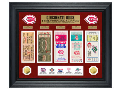 Cincinnati Reds Highland Mint World Series Deluxe Gold Coin Ticket Collection