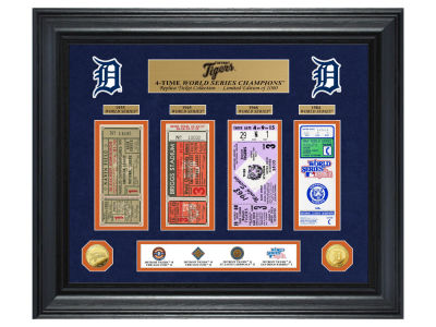 Detroit Tigers Highland Mint World Series Deluxe Gold Coin Ticket Collection