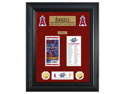Los Angeles Angels Highland Mint World Series Deluxe Gold Coin Ticket Collection