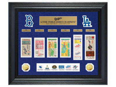 Los Angeles Dodgers Highland Mint World Series Deluxe Gold Coin Ticket Collection