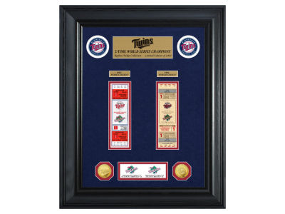Minnesota Twins Highland Mint World Series Deluxe Gold Coin Ticket Collection