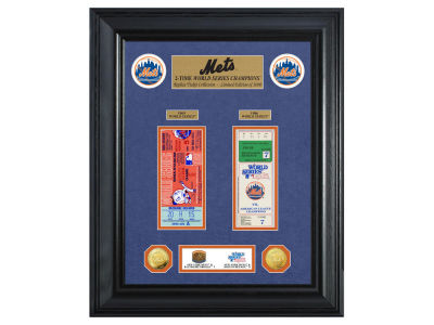 New York Mets Highland Mint World Series Deluxe Gold Coin Ticket Collection