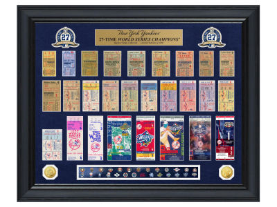 New York Yankees Highland Mint World Series Deluxe Gold Coin Ticket Collection