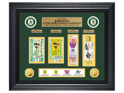 Oakland Athletics Highland Mint World Series Deluxe Gold Coin Ticket Collection