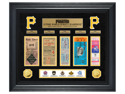 Pittsburgh Pirates Highland Mint World Series Deluxe Gold Coin Ticket Collection