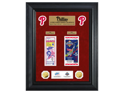 Philadelphia Phillies Highland Mint World Series Deluxe Gold Coin Ticket Collection
