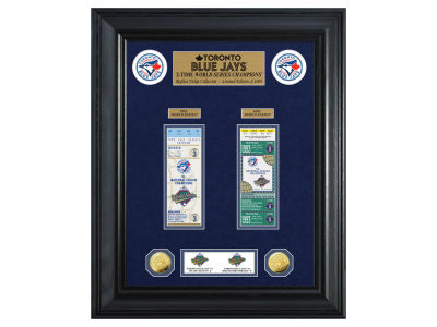 Toronto Blue Jays Highland Mint World Series Deluxe Gold Coin Ticket Collection