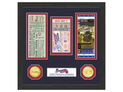 Atlanta Braves Highland Mint World Series Ticket Collection