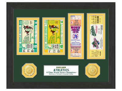 Oakland Athletics Highland Mint World Series Ticket Collection