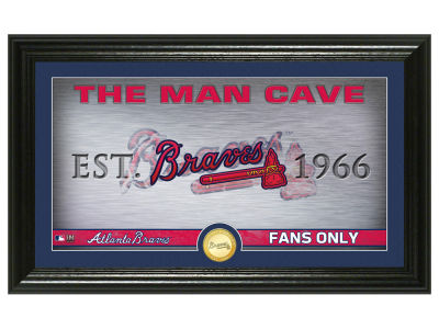 Atlanta Braves Highland Mint Man Cave Panoramic Bronze Coin Photo Mint