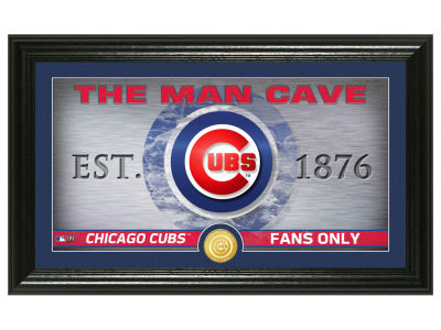 Chicago Cubs Highland Mint Man Cave Panoramic Bronze Coin Photo Mint