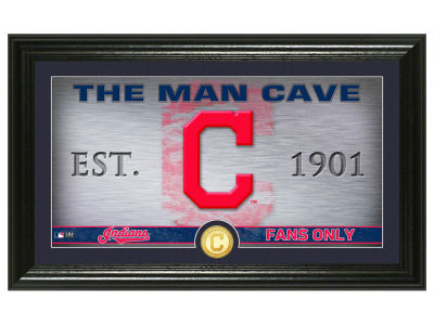 Cleveland Indians Highland Mint Man Cave Panoramic Bronze Coin Photo Mint