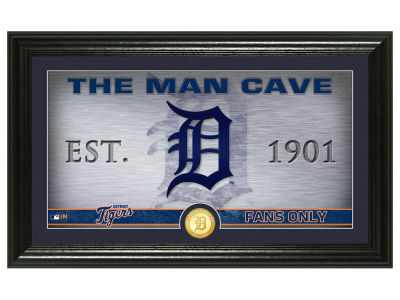 Detroit Tigers Highland Mint Man Cave Panoramic Bronze Coin Photo Mint