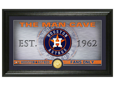 Houston Astros Highland Mint Man Cave Panoramic Bronze Coin Photo Mint