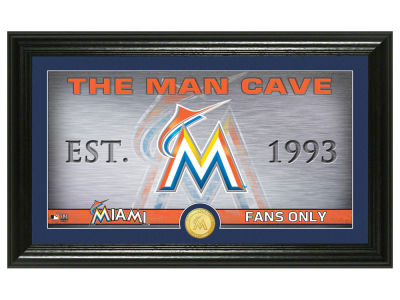 Miami Marlins Highland Mint Man Cave Panoramic Bronze Coin Photo Mint