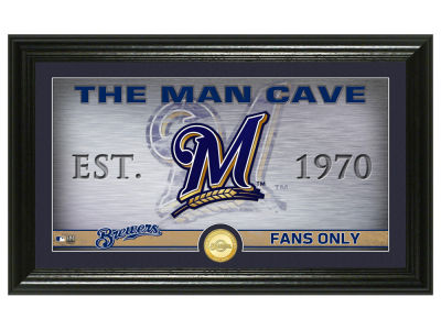 Milwaukee Brewers Highland Mint Man Cave Panoramic Bronze Coin Photo Mint