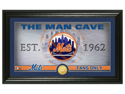 New York Mets Highland Mint Man Cave Panoramic Bronze Coin Photo Mint