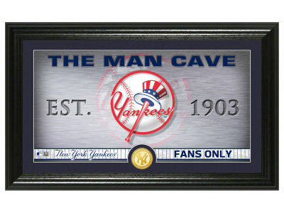 New York Yankees Highland Mint Man Cave Panoramic Bronze Coin Photo Mint