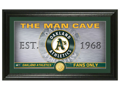 Oakland Athletics Highland Mint Man Cave Panoramic Bronze Coin Photo Mint