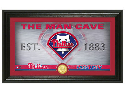 Philadelphia Phillies Highland Mint Man Cave Panoramic Bronze Coin Photo Mint