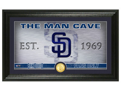 San Diego Padres Highland Mint Man Cave Panoramic Bronze Coin Photo Mint