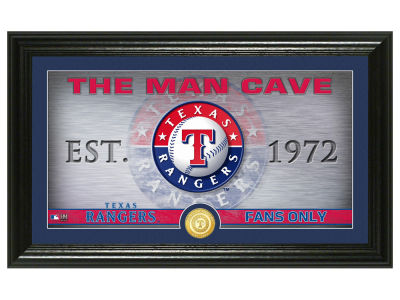 Texas Rangers Highland Mint Man Cave Panoramic Bronze Coin Photo Mint