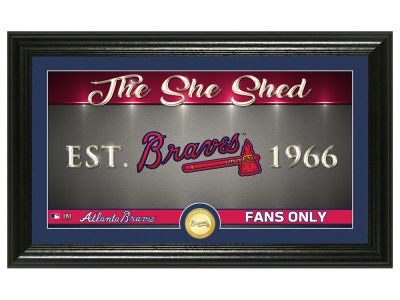Atlanta Braves Highland Mint She Shed Panoramic Bronze Coin Photo Mint