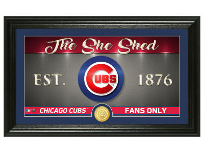 Chicago Cubs Highland Mint She Shed Panoramic Bronze Coin Photo Mint